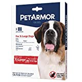 PetArmor for Dogs, Flea and Tick Treatment for Extra Large Dogs (89-132 Pounds), Includes 3 Month Supply of Topical Flea Treatments