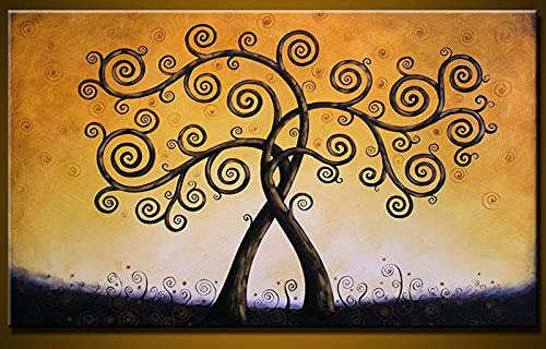 """Original Large Art Huge Painting Modern Contemporary Trees 36"""" x 60"""" Intertwined, great wedding gift"""
