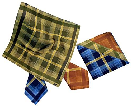 Karl Teichmann® Herrentaschentücher I Stoff-Taschentücher I 6-er Pack I 00% Baumwolle I 40 x 40 cm (Farbvariante 7)