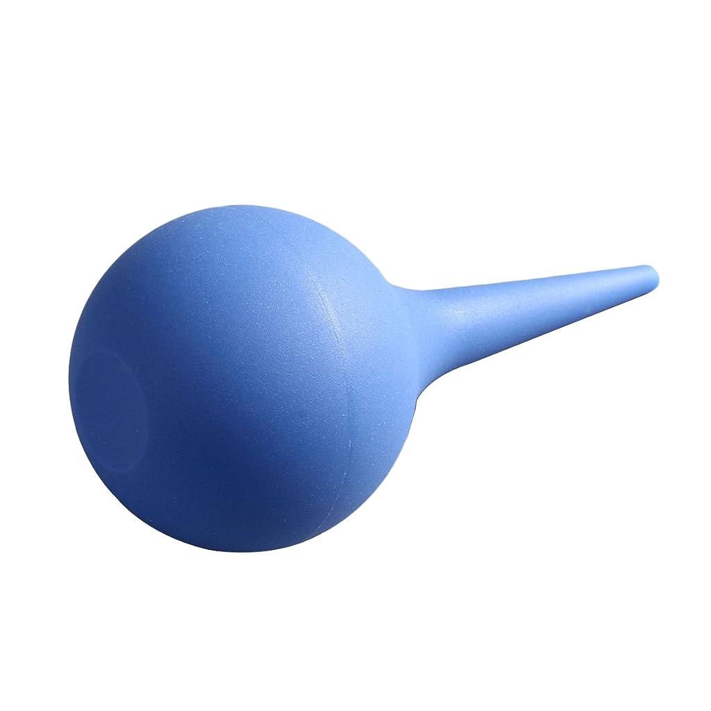 ミュート拷問位置するROSENICE シリンジバルブエアーブロワーポンプダストクリーナーラバーサクションイヤー洗浄スクイズバルブツール(ブルー)