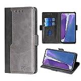FiiMoo Custodia Compatibile con Samsung Galaxy Note 20, Custodia in Pelle PU Premium [Slot per Schede] [Chiusura Magnetica] [Funzione di Supporto] Cover a Libro per Galaxy Note 20-Nero