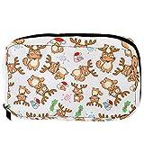 Bolsas de cosméticos para gatos en reno práctica bolsa de viaje Oragniser bolsa de maquillaje para mujeres y niñas