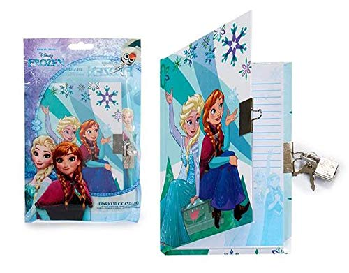 Générique - Journal Intime Cadenas Frozen Reine des NEIGES Disney - Carnet Secret Cadeau Noel - 893