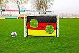 Netsportique Fußballtor für Kinder Fun - 3 Größen zur Auswahl - aus uPVC Klicksystem Zubehör und 100% WETTERFEST (1,2 x 0,8m Tor + Torwand Deutschland)