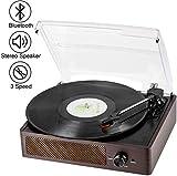 Tocadiscos estéreo de 3 velocidades con Altavoces incorporados, Salida RCA /...