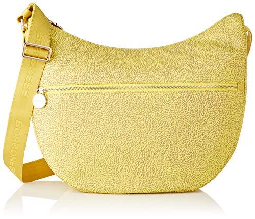 Borbonese Luna Bag Medium, Borsa a Tracolla Donna, Giallo (Giallo/Giallo), 35x38x15 cm (W x H x L)