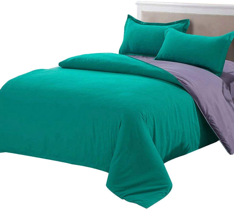 Pure Green & Purple, Queen   Duvet Covers, Duvet Cover Pillow Case Quilt Cover Bedding Sets Queen Pure Green Purple