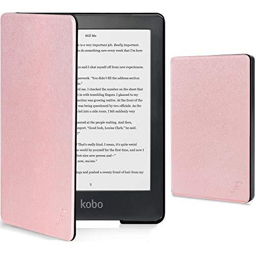 Forefront Cases Cover per Kobo Clara HD - Custodia Protettiva Magnetica per Kobo Clara HD - Smart Auto Sveglia Sonno Funzione - Sottile Leggero - Rose Gold