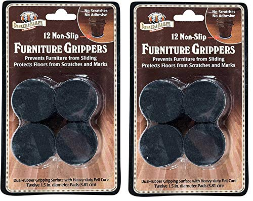 Parker amp Bailey 12 NonSlip Furniture Grippers 2Pack