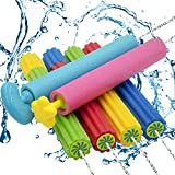 Grarg Water Guns for Kids, 6 Pack Super Foam Squirt Guns for Toddlers Adults, Water Soaker Blaster Shooters Set with Long Range, Summer Outdoor Fighting Play Gifts Swimming Pool Beach Yard Party Toys