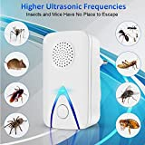 CPDZ Machine à Moustique électronique pour Famille de répulsifs à ultrasons pour cafards Souris rongeurs araignées Mouches Fourmis puces (Pack 2),UK