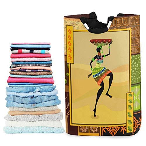 Cesta de lavandería plegable para mujer de minorías africanas, cesto de lavandería grande de tela Oxford, ropa sucia, organizador de juguetes con asa para baño, dormitorio, habitación de niños, dormit