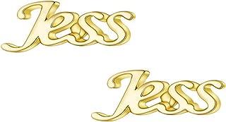 Custom Any Name Earrings for Women Girls Gold Silver Jewelry