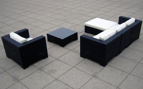 Sitzgruppe Daydreamer Rattan 4-teilig schwarz Bild 3*