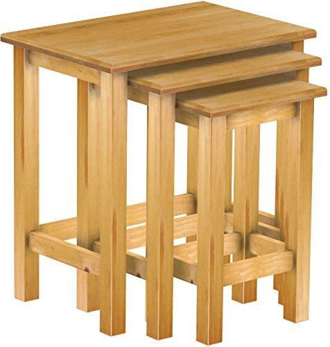 Nero L x i X H FZYHFA Set di tavolini bassi 2/pcs in legno di pino massiccio 100/x 50/x 40/cm