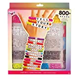 Fashion Angels Tell Your Story Alphabet Bead Case (12355) Bracelet Making Kit, 800+ Bead Set
