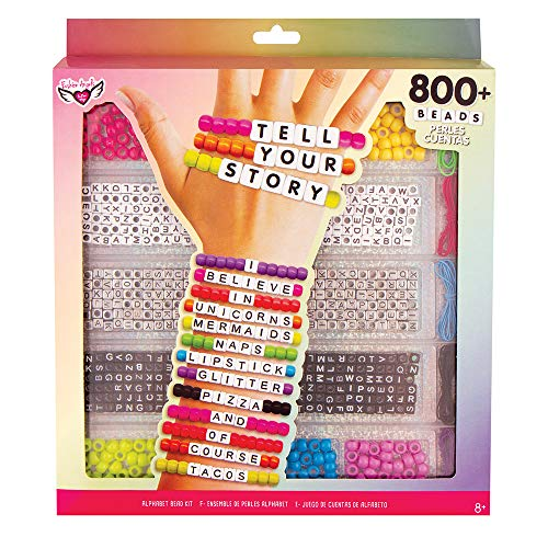 Fashion Angels Tell Your Story Alphabet Bead Case Bracelet Making Kit (800+ Set)