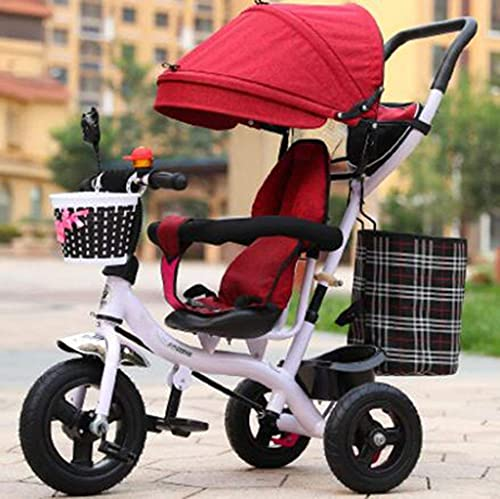 OHHG Bicicleta niños, Triciclo Triciclo Cochecitos Bebé Niños Triciclo Hombre Mujer Carro Bicicleta bebé/1-2-3-6 años Bicicleta niños Carro bebé
