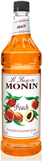 Monin - Peach Syrup, Fresh and Juicy Flavors, Great for Iced Teas, Lemonades, and Sodas, Vegan, Gluten-Free (1 Liter)