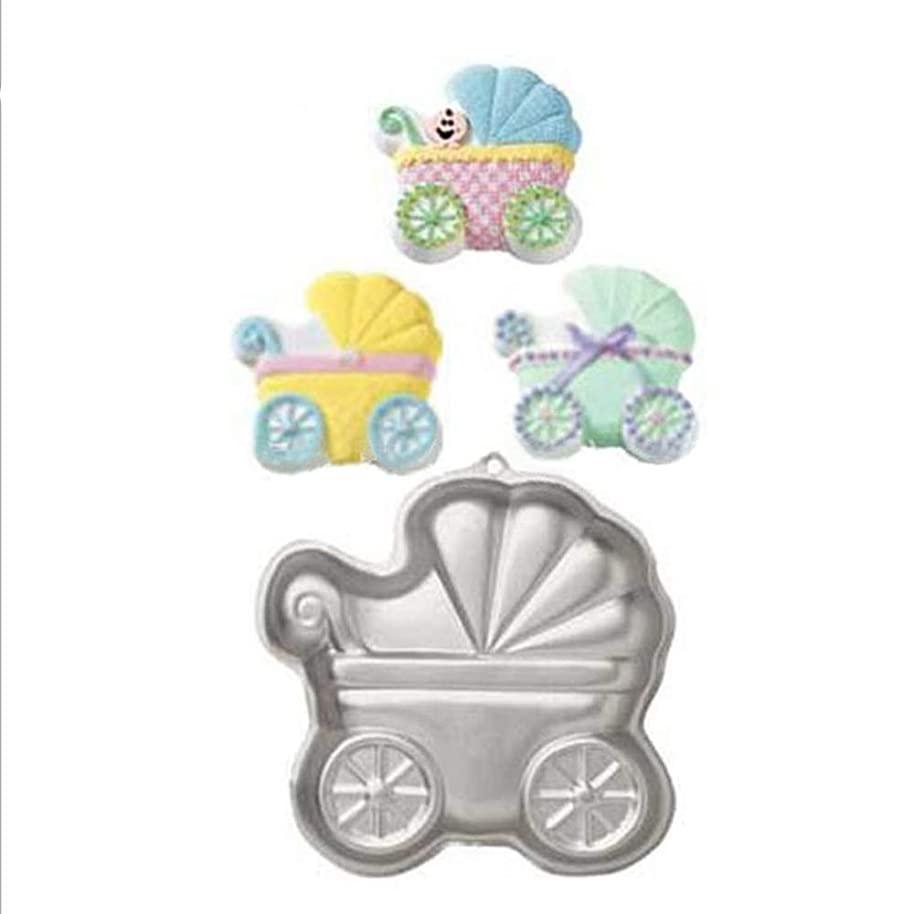 ZJWEI 9.8 Inch Plane Aluminum Alloy 3D Cake Mold Baking Mould Tin Cake Pan - Baby carriage