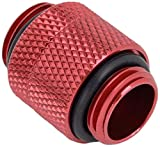 Bitspower G1/4' Male to Male Extender Fitting (14mm), Rotary, Deep Blood Red
