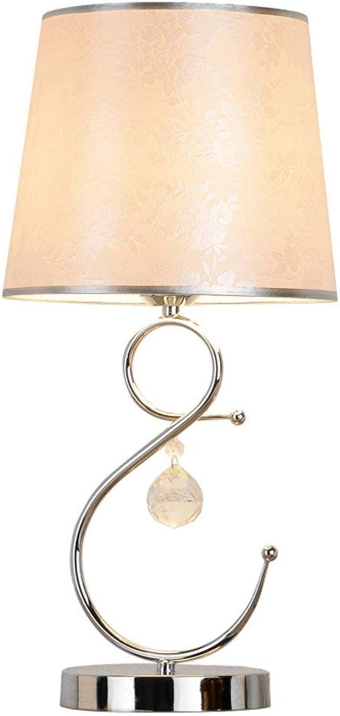 Tischlampe Europische Kristalldekoration Tisch, Qualitts-Kristall-Anhnger Schlafzimmer Wohnzimmer Button Switch, Leseleuchten Nachtlicht E27