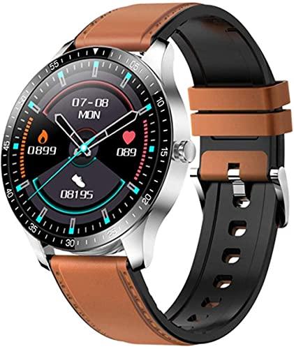 YLB Smart Watch Fitness Tracker Monitoreo del sueño de frecuencia cardíaca, Multi-Deportes Impermeable Bluetooth Hombres y Mujeres s Reloj Inteligente para iOS Android (Color: F)