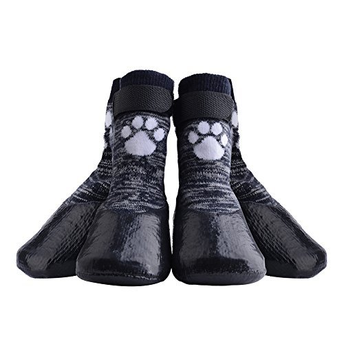 KOOLTAIL Dog Socks Anti Slip with Straps Traction Control Waterproof Paw Protector