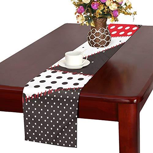 JINCAII Patchwork Polka Dot Tischläufer, Küche Esstisch Läufer 16 X 72 Zoll für Dinner-Partys, Veranstaltungen, Dekor