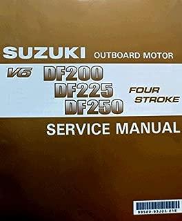Suzuki Outboard (99500-93J05-01E Genuine OEM Service Manual 4-Stroke 200, 225, 250, hp. 2004 Thru 2010
