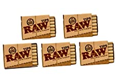 5 Packs - 21 each (105 Total) Raw Pre-Rolled Natural Tips Constructed to enhance air-flow. Cut & rolled with the grain fibers, ensuring a perfectly round tip. 100% natural & chlorine free paper. Windmill powered, Non-GMO, total chlorine free, vegan p...