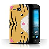 Phone Case for Huawei Ascend Y600 Animal Stitch Effect