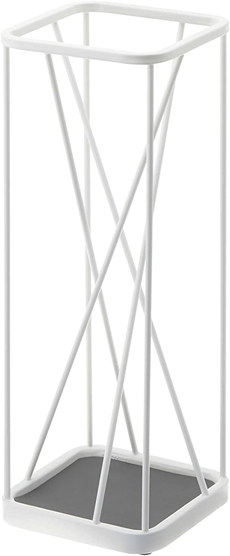 Japanese Design Nine-Square Metal Modern Umbrella Stand 18 inch High, White