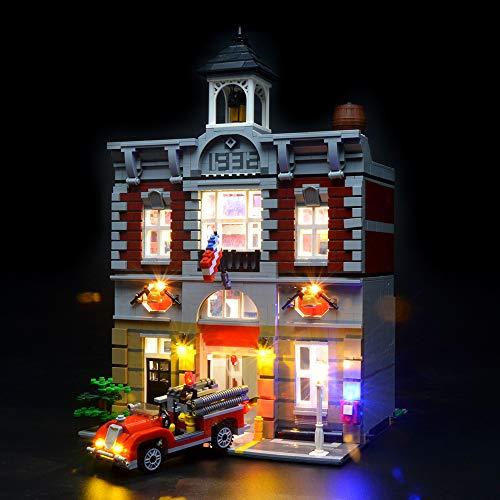 BRIKSMAX Led Beleuchtungsset für Feuerwache, Kompatibel Mit Lego 10197 Bausteinen Modell - Ohne Lego Set