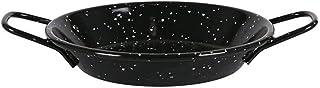 Rollsnownow Paella Pan Mini Aameled Vitrified Steel No Stick - Set 6 - Diámetro 16 Centimeter - 1 Porciones
