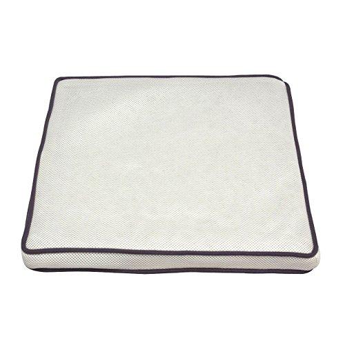 アイリスオーヤマ クッション エアリーシートクッション 抗菌 防臭 丸ごと洗える 長時間使用でも疲れにくい ムレにくい 通気性 ホワイト CAR-4343