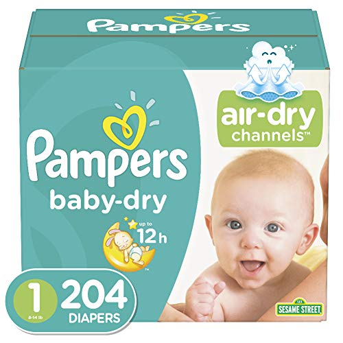 Diapers Size 1 204 Count  Pampers Baby Dry Disposable Baby Diapers Enormous Pack