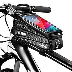 SanDoll 自転車バッグ 自転車トップチューブバッグ フレームバッグ サドルバッグ  大容量 多機能 二重構造 防水 防圧 防塵 ヘッドホン穴
