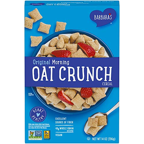 Three Sisters Barbara's Morning Oat Crunch Original Cereal, Heart Healthy, Non-GMO, 14 Oz Box