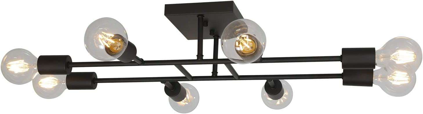 ELUZE Ceiling Light Fixture Industrial Flush Metal Bombing free shipping Spring new work one after another Mount O