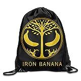 Stringiing Drawstring Tote Backpack Bag Iron Banana Destiny