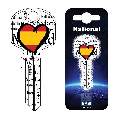 Fanschlüssel Schlüsselrohling Schlüsselanhänger Fanartikel Schlüsseldienst Spanien