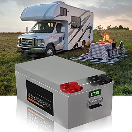 Batería Lifepo4 de Ciclo Profundo de 12V 125 Ah, Batería Recargable de Fosfato de Hierro Y Litio, para Vehículos Recreativos, Energía Solar Y Batería de Respaldo, con BMS Incorporado,12V180Ah