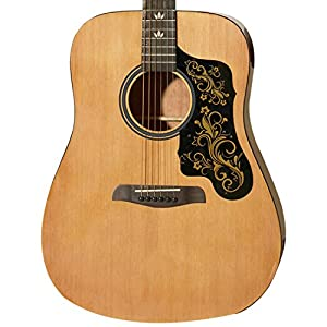 Sawtooth 6 String Acoustic Dreadnought Guitar with Custom Black Pickguard, Right Handed (ST-ADN-D)