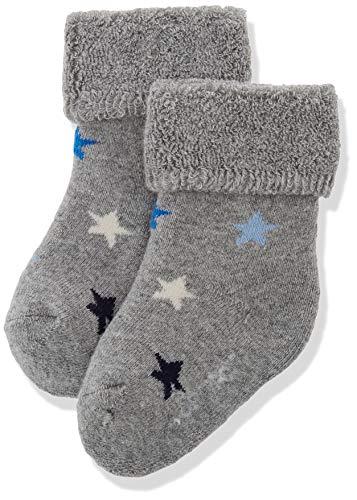 Sterntaler Baby-Mädchen Söckchen Sterne Socks, Silber Mel, 16