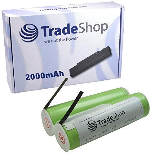 Hochleistungs Ni-MH Akku 2,4V / 2000mAh für Remington R-9100 MS2-290 R-9200 R-600 R-9290 R-9300 R-9350 R-9500 R-TCT WDF-5000 MS-280 MS-290 MS-900 MS2-280 MS2-290 MS2-390 R-5130 R-6130 R-7130