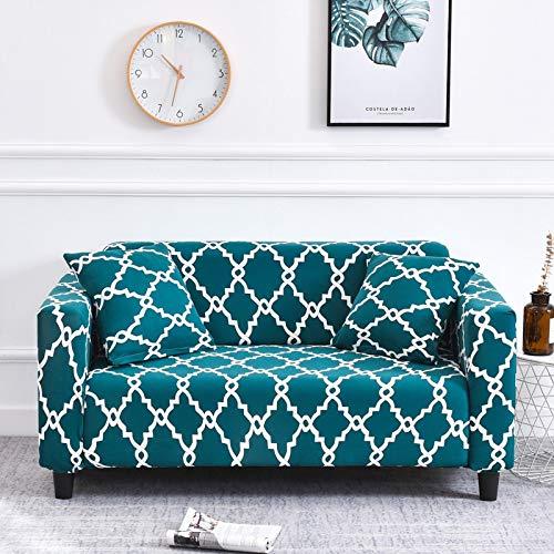 WXQY Living room geometric elastic sofa cover modern corner sofa cover anti-fouling sofa chair protective cover A15 3 seater