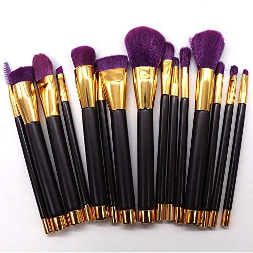 GBY Pinceau de maquillage professionnel complet pour fond de teint, poudres à lèvres, poudres de pincel, Fibre synthétique., violet, Free