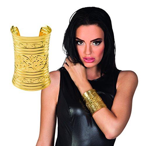 Römerin Armspange - Gold - Ägyptischer Schmuck Armreif Orient Modeschmuck Antike Armschmuck Göttin Ägypterin Kostüm Accessoire Ägyptischer Schmuck Armreif