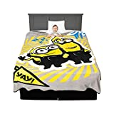 Franco Kids Bedding Super Soft Micro Raschel Blanket, Twin/Full Size 62' x 90', Despicable Me Minions
